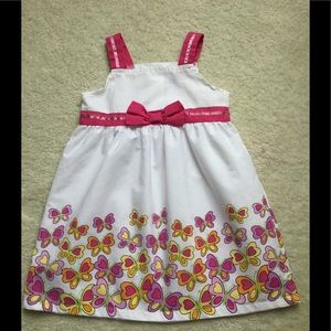 Other - Girls 3T pink & yellow butterfly dress